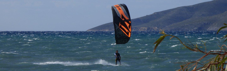 strong wind spot kitesurfingkos Marmari Griechenland