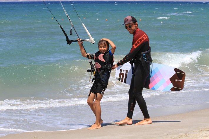 Kitesurfen Kinderkurse, Kids lessons