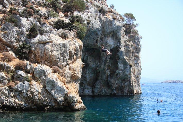 Kliff Jumping Kitesurfing Kos, explore the Kos