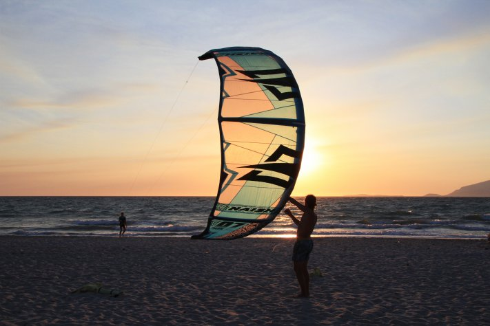 sunset Kitesurfen Kos