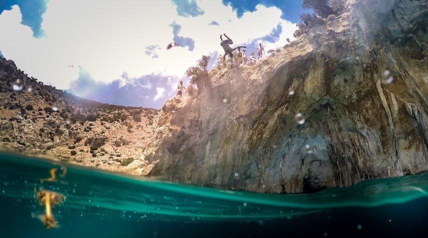 Klippen springen Kalymnos