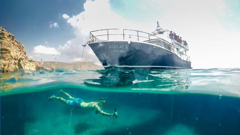 Kos entdecken unter Wasser